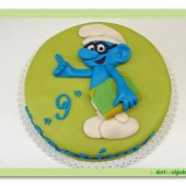 101.Marcipánový dort s ozdobou – Šmoula koumák