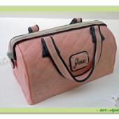17. Marcipánový modelovaný dort 3D – růžová kabelka Guess