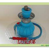 16.Marcipánový modelovaný dort 3D – vodní dýmka
