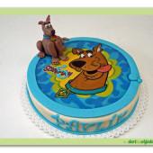 68. Marcipánový dort s jedlou fotografií – Scooby doo