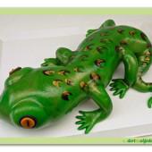 222. Marcipánový modelovaný dort – Ještěrka
