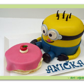 54.Marcipánový dort 3D – Mimoň slaví narozeniny