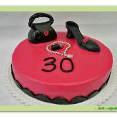 259. Marcipánový dort s ozdobou pro všechny parádnice