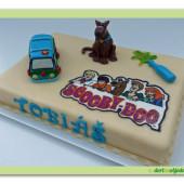 60.Marcipánový dort s motivem Scooby – Doo