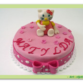 89.Malý marcipánový dort s motivem kočičky Kitty
