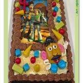 59.Zdobený dort s pařížským krémem, marcipánovým dekorem na téma Toy story – Příběh hraček