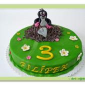 77.Malý marcipánový dort Krteček