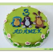75.Marcipánový dort s motivem Krteček a kamarádi