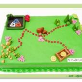 295.Marcipánový dort s motivem geocaching