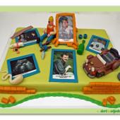 11. Marcipánový Tablo dort s jedlým papírem – narozeninový inspirace 2