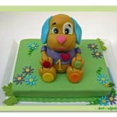 63. Marcipánový dort s pejskem