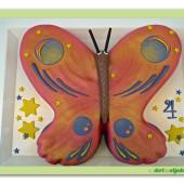 220. Marcipánový modelovaný dort Motýl 2 (Duplicate)