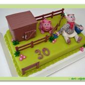 299.Marcipánový dort – prasátko před zabijačkou