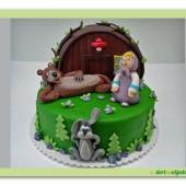 62.Marcipánový dort na motivy Medvěd a Máša