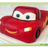 72.Marcipánový dort auto McQueen