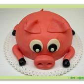 57. Marcipánový modelovaný dort – Prasátko