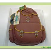 256. Marcipánový modelovaný dort – turistický batoh