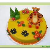 66. Marcipánový dort s motivem Tygra
