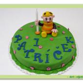 67.Malý marcipánový dort s motivem včelí medvídci