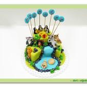 50. Madagascar 2 – patrový modelovaný marcipánový dort