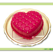 "205. ""Zamilované dorty""- marcipánové srdce s perličkami"