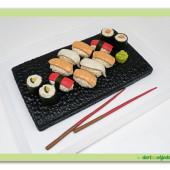 """200.Marcipánový modelovaný dort """" Sushi set """""""