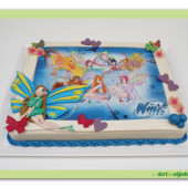 """46.Marcipánový modelovaný dort """"víly Winx"""""""