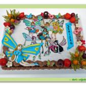 47.Pařížský krémový dort s ovocem na motiv víly Winx