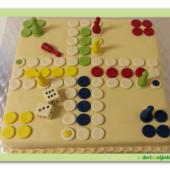 """28. Marcipánový modelovaný dort  """"člověče nezlob se"""""""