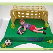 281. Fotbalový marcipánový dort – brankářský