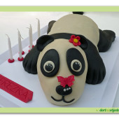 "219. Modelovaný marcipánový dort 3D ""Panda"""