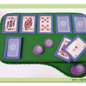 340.  Marcipánový dort – Pokerový dort malý