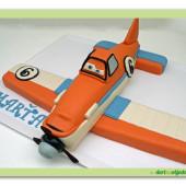 "26. Marcipánový modelovaný dort Letadla "" Planes "" Prášek"