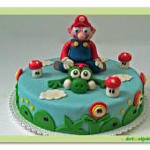 31. Marcipánový dort Super Mario