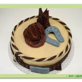158. Westernový marcipánový dort