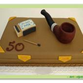 298.Marcipánový dort – |Dýmka na dekorační krabičce