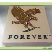 Marcipánový obdelníkový dort s logem