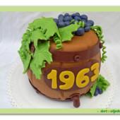 160. Vinný soudek  – 3D marcipánový dort