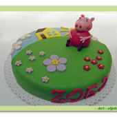 20. Marcipánový dort s prasátkem Pepina