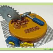 159. Marcipánový dort s modelací na téma kutilství