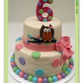 317. Patrový marcipánový dort se sovičkou