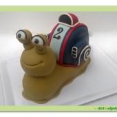325. Marcipánový modelovaný 3D dort – šnek Turbo
