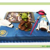 330. Marcipánový dort Star Wars modrý