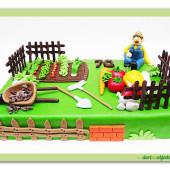 """328. Marcipánový dort """" záhrádkář """""""