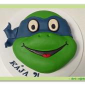 341. Marcipánový dort Želvy ninja – Leonardo