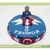 339. Marcipánový dort  Avengers Captain America