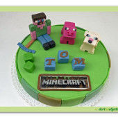 346. Minecraft 3 – malý marcipánový dort