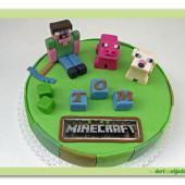 346. Minecraft 3 – marcipánový kulatý dort
