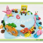 345. Marcipánový dort – Sponge Bob – zátiší bikin