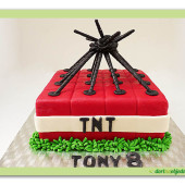 342. Marcipánový dort TNT – minecraft